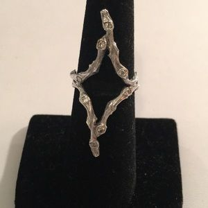 Jewelry - .925 Sterling Silver Ring & mini diamond